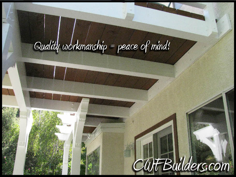 Patio covers and decks santa clarita christopher french for Balcony underside