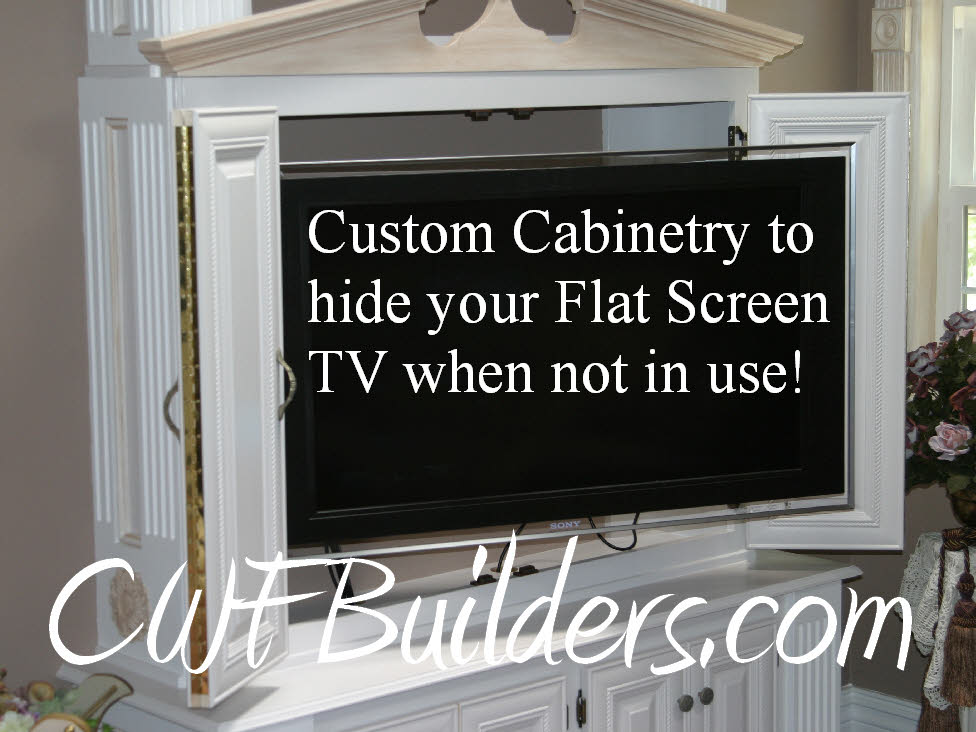 Construction santa clarita christopher french contractor for Tv cabinets hidden flat screens